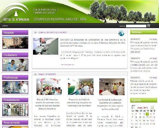 La página del Hospital, una web de referencia sanitaria en la provincia