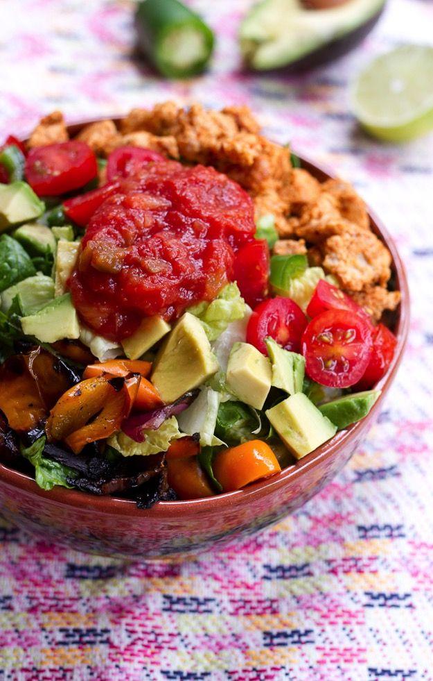 Clean Eating Turkey Taco Salad #healthy #glutenfree