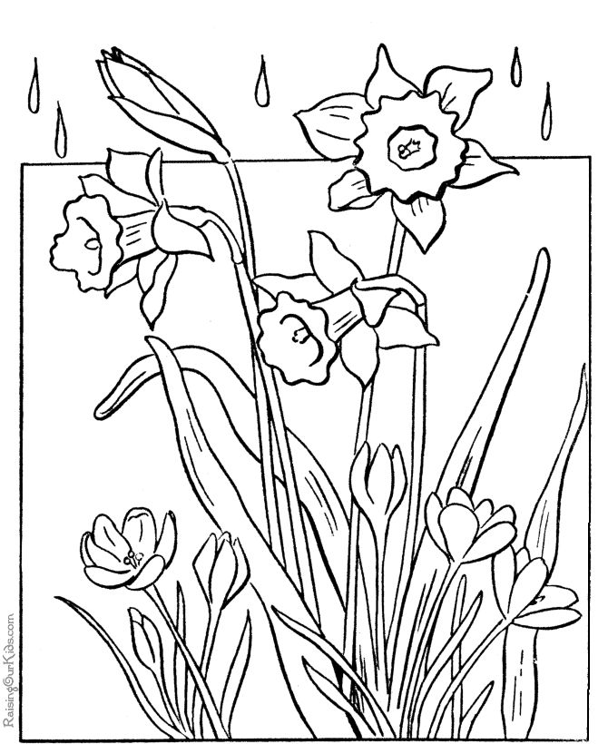 coloring pages for students that get done early | Spring ...