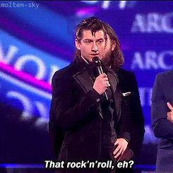 And the Arctic Monkeys' Alex Turner thought this was a cool idea at the BRITs. | The 61 Most WTF Celebrity Moments Of 2014