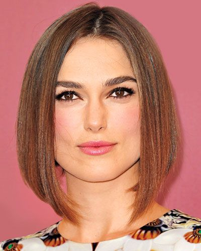 "If Your Hair is Straight & Fine  THE CUT A long bob with blunt ends that are snipped shorter in the back makes fine strands look full and dense. ""Longer pieces around the face give the cut versatility, allowing you to play with updos,"" says Knightley's stylist, Ben Skervin."