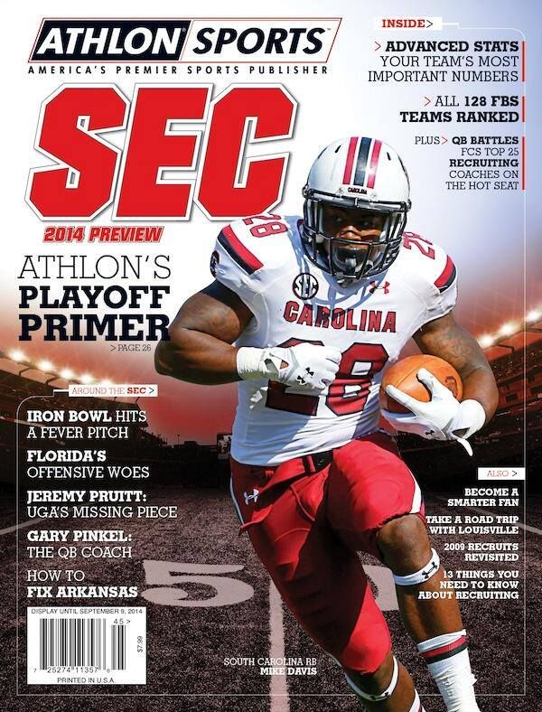 Mike Davis on the cover of Athlon Sports Cover