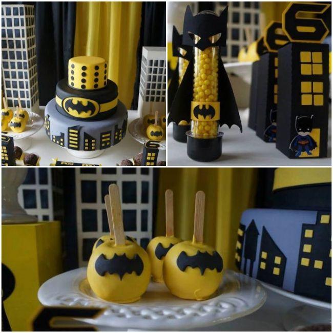 Batman Party Idea for Kids Table