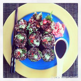 Quinoa Nori Rolls with Pickled Ginger and Tamari