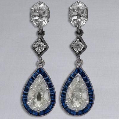 Art Deco Diamond Earrings, 1920's                                                                                                                                                                                 More