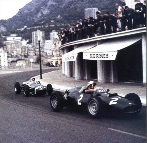Monte Carlo 1960.  front right: Jo Bonnier, Arthur Owen P48  back left: Stirling Moss, Reventlow Automobiles Inc ?  http://f1-facts.com/gallery/d/1434