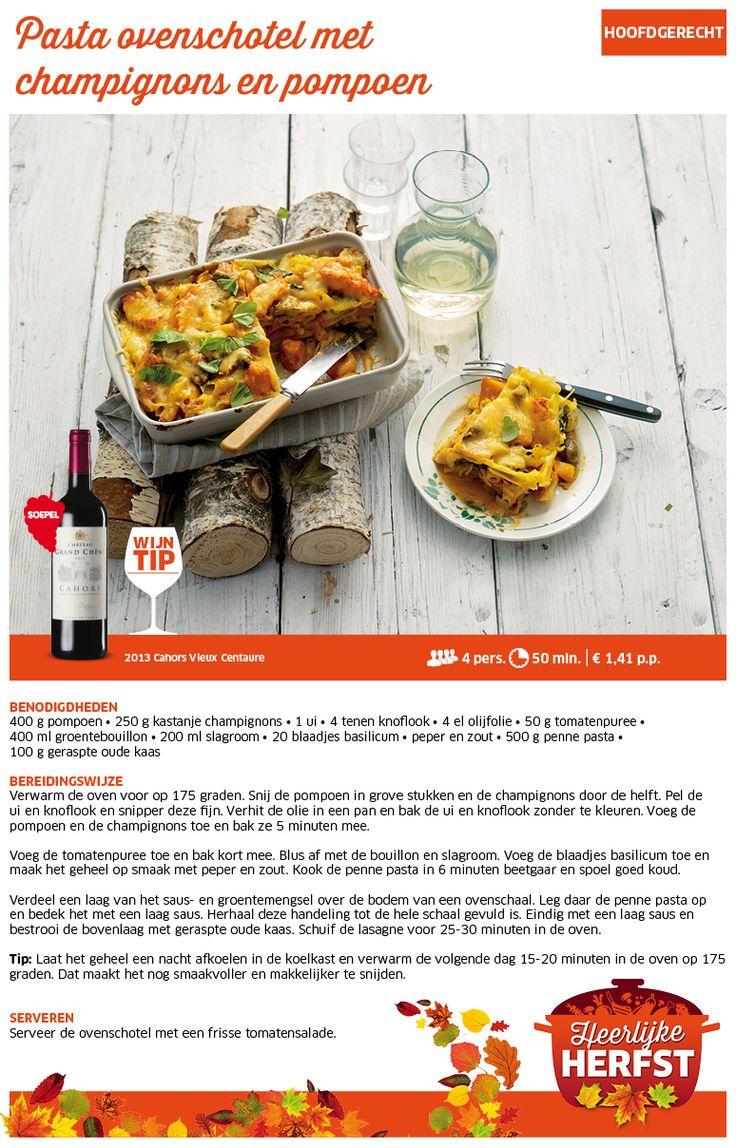 Pasta ovenschotel met champignons en pompoen - Lidl Nederland