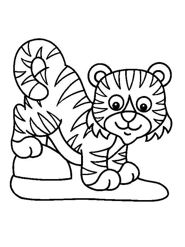 Animales De La Selva Para Colorear Tigre Para Pintar Dibujo