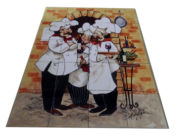 Decorative Wall Tile Murals 27 Best Chef On Ceramic Tiles Murals Images On Pinterest  Tile