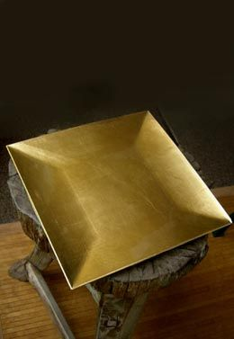 Gold Charger Plate Square 12in