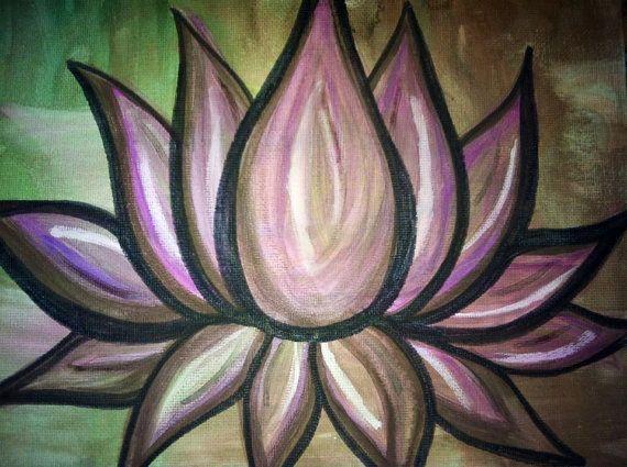 Zen Lotus Flower Water Color Painting 8x11 Beautiful by BigSurLove, $25.00