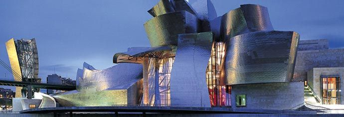 guggenheim museum in bilbao. designed by f gehry