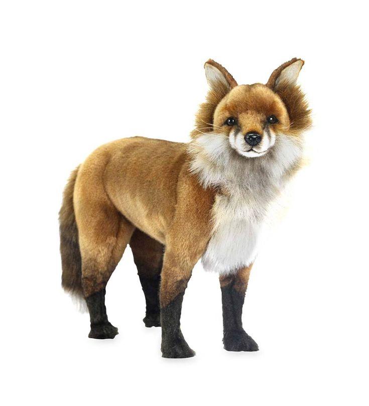 realistic fur fox lifelike wolf amp raccoon stuffed animal - 735×809
