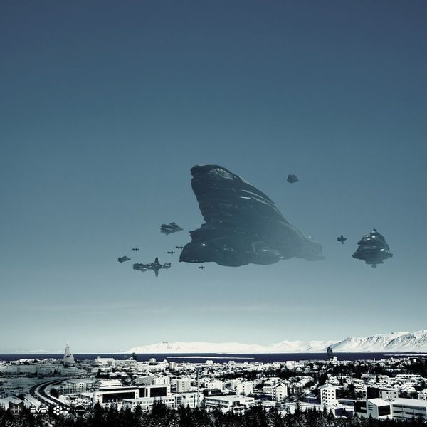 Great mash-up of Eve and Iceland. Reykjavik Invasion - Eve Online on the Behance Network
