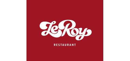 LeRoy Restaurant Logo Design | Vector Graphics | Pinterest