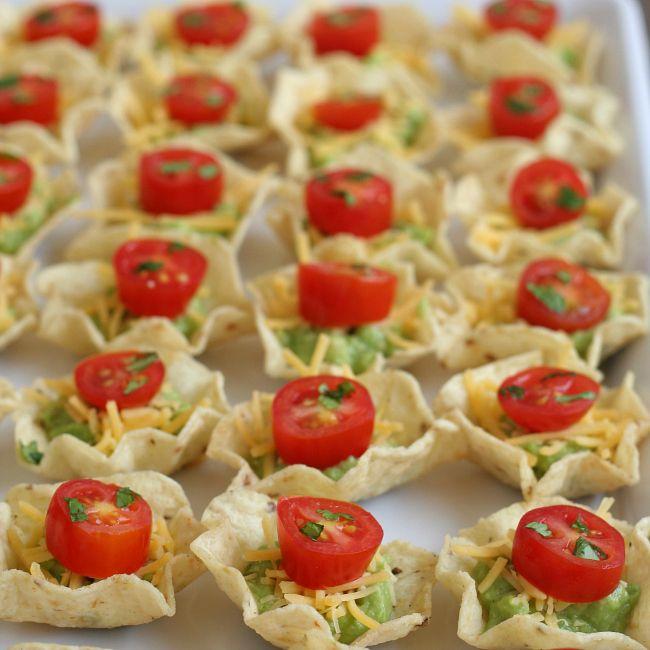 Chip Guacamole Cheese Tomato gluten-free appetizer