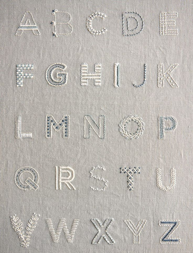 Brodats...-----Purl Soho_Learn to Embroider an Alphabet Sampler Kit