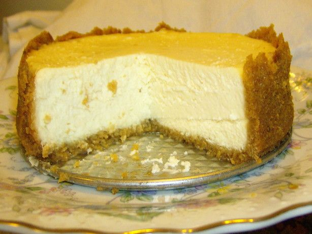 "6"" Spring Form Ceesecake - 2/3 cup graham crumbs - 2 T. sugar - 3 T. unsalted butter, softened - 12 oz cream cheese, at room temp - 1/4 cup sugar - 1 large egg, lightly beaten - 1/2 t.  pure vanilla extract - 1 T. cornstarch - 1/3 cup sour cream"