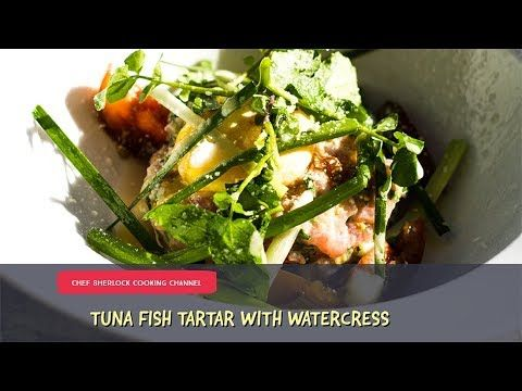 Tasty Tuna Tartar with watercress and Asian spices