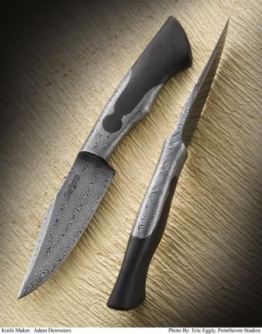 Master Smith Adam DesRosiers of Alaska earned the award for Best Hunter for his outstanding knife at the 10th American Bladesmith Society Exposition in San Antonio during the January 25-26, 2013 Show.