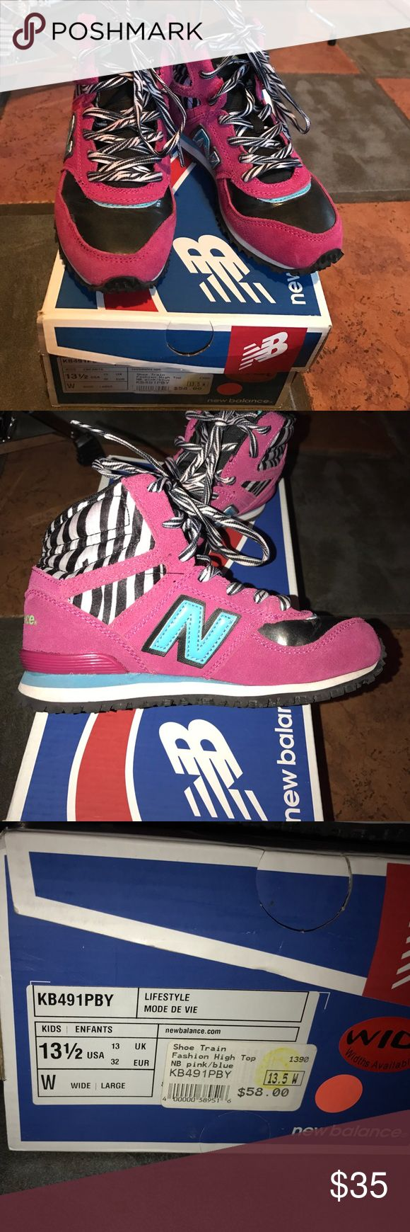New balance girls high tops size 13.5 wide new Brand new New balance high top sneakers size 13.5 wide. New Balance Shoes Sneakers