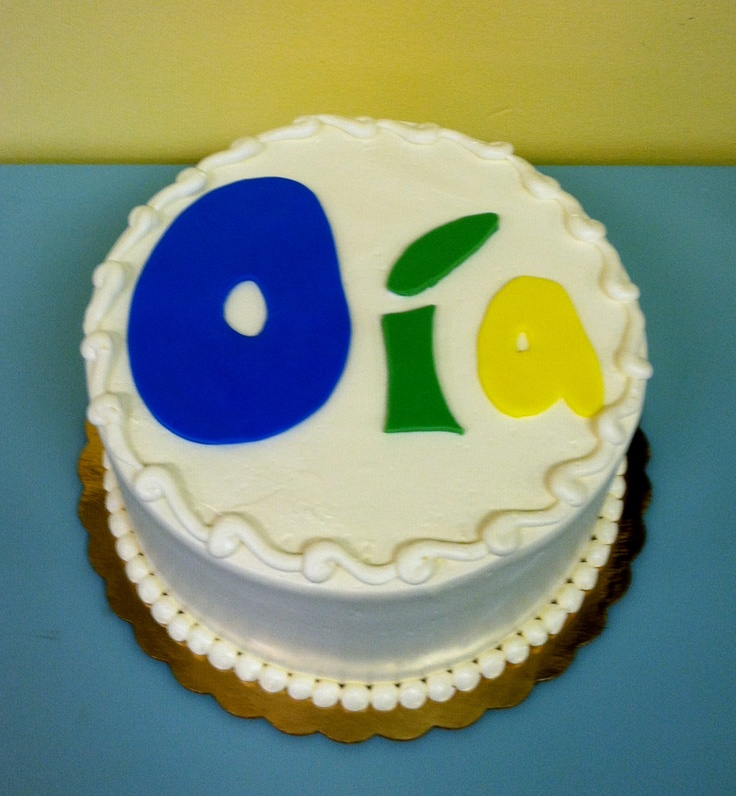 Birthday Cake Pictures Pinterest : Fondant Name Birthday Cake Cakes Pinterest