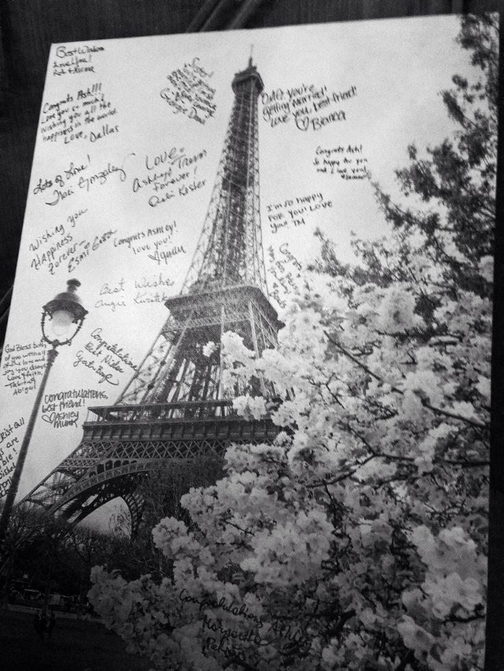 Write on canvas - Paris bridal shower