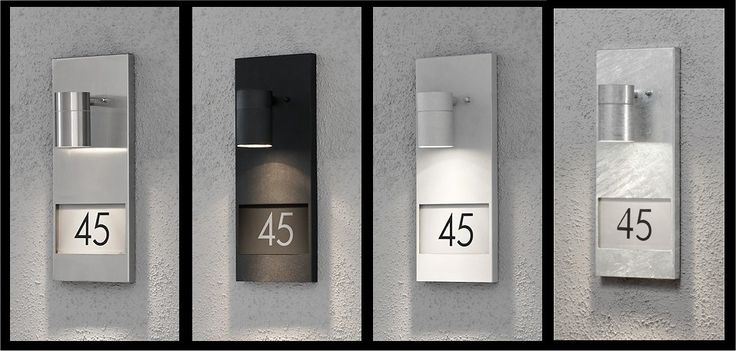 House number exterior light. What a great idea !