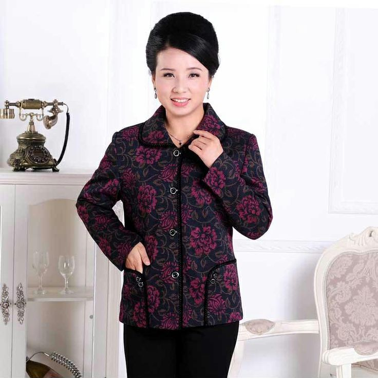 Quinquagenarian women's female autumn outerwear the elderly clothes long-sleeve mother clothing US $31.69