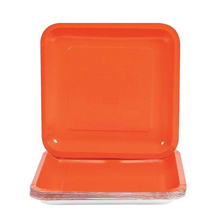 Orange Square Paper Dinner Plates  sc 1 st  Pinterest & 13 best Wedding Utensils images on Pinterest | Dinner plates Dishes ...