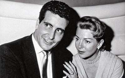 Hollywood's ultimate scandal: Lana Turner and lover Johnny Stompanato. He would be found dead from a knife wound in her bedroom in 1958.