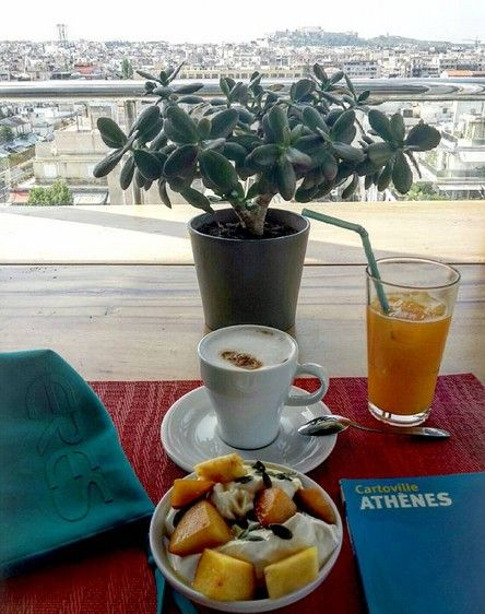 #Tipoftheday. Plan your day in #Athens overlooking the beautiful #Acropolis from our roof garden! - at Radisson Blu Park Hotel Athens  Photo credits: lesbonsplansmodeaparis