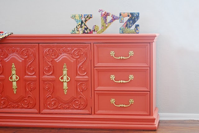 Dresser and letters hot colour for 2012 painted for Furniture 7 letters