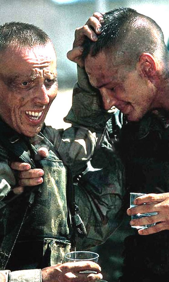 Tom was grateful to his director on Black Hawk Down, Ridley Scott, who let him do his own stunt on set – he was set on fire!