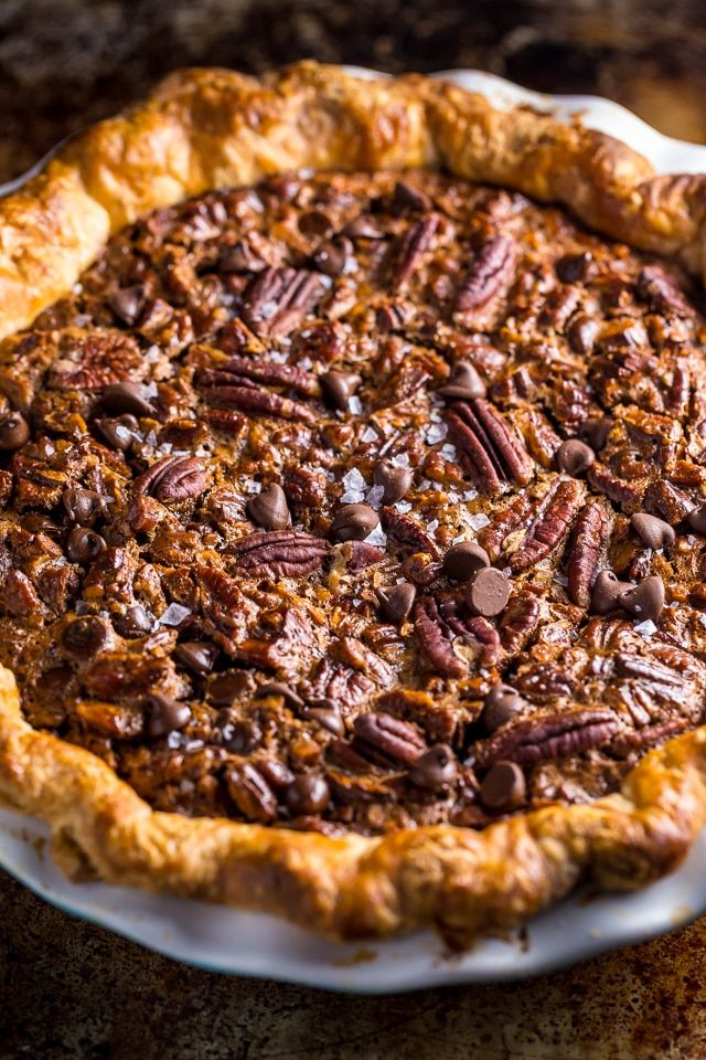 This insanely decadent Chocolate Pecan Pie is topped with a dollop of whipped cream… and extra chocolate, of course! Another day, another pie recipe for you! And I've been playing around with this one for over a year. So you know it's going to be good! But don't just take my word for it… feast...