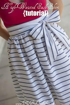 High-Waisted Sash Skirt {Tutorial}
