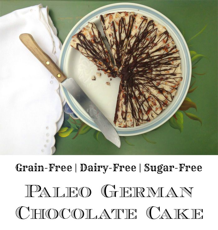 Paleo German Chocolate Cake - GrokGrub.com Sub in Swerve for the maple syrup and this is low carb!!