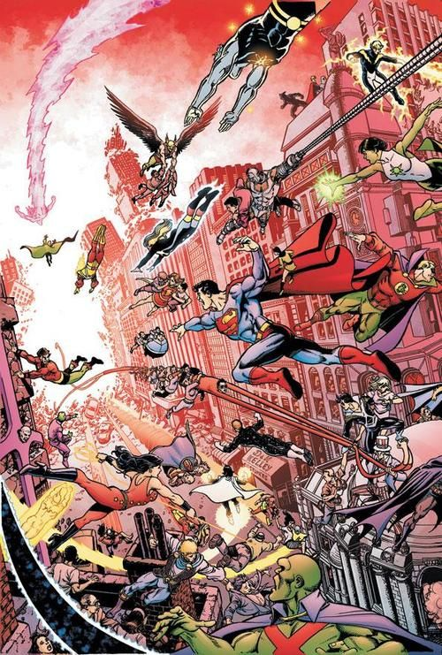 Crisis on Infinite Earths by George Perez
