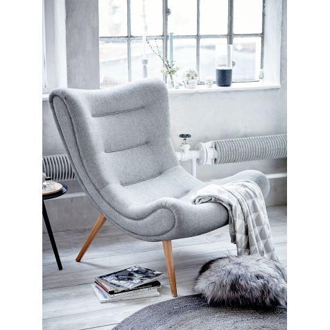 Ein Design Klassiker Aus Den Jahren Sessel Im Retro Look Mit Harmonisch Geschwungenem Gestell Und Ausgestellten Beinen Buchenholz
