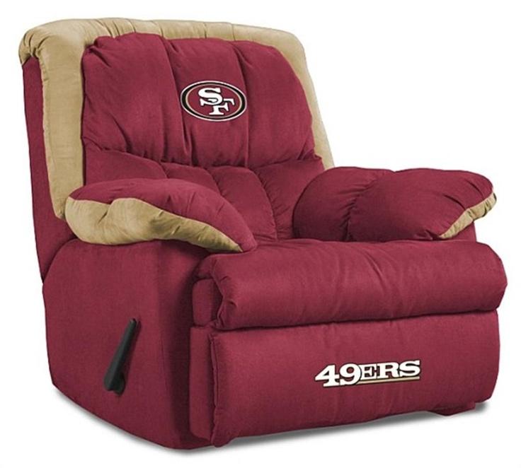 San Francisco 49ers Home Team Recliner....want!!!! Can it be football season already?