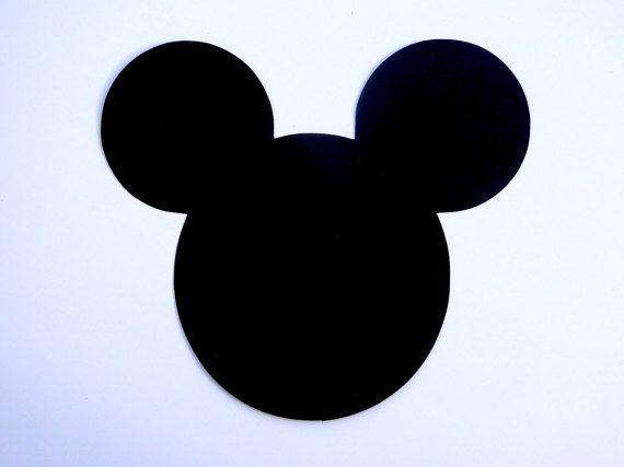 """6"""" tête de Mickey Mouse Ears Die Cut, Disney Mickey Mouse Clubhouse oreilles découper / découpé - toute couleur-ensembles de 10"""