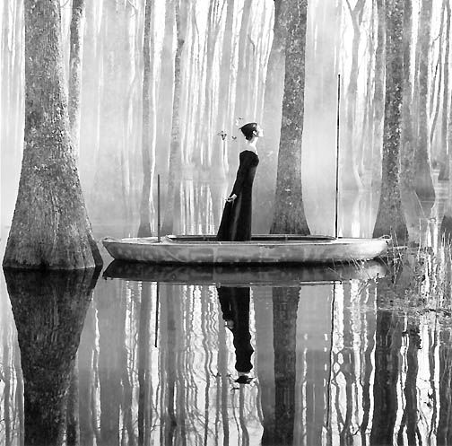 Photography by rodney smith surreal beauty not sure why but this reminds me of the lady of shalott by tennyson maybe its the boat