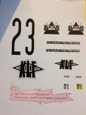 Build Your Own Ford Timelord KLF / JAMMS Model Police Car! (09/28/2013)