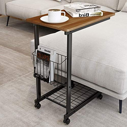 The Perfect Homemaxs Side Table With Wheels Sofa Table For Small Space Living Room 27 In Small Space Living Room Living Room Design Small Spaces Sofa Table