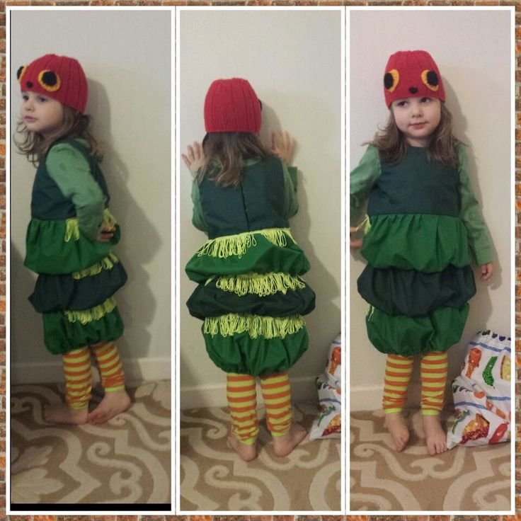 Homemade Hungry Caterpillar costume. World book day or just for fun!!