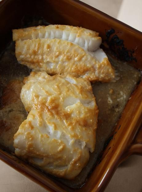 Baked miso fish. I made this with corvina today and it ROCKED!: Baking Miso, Baking White, White Miso, Miso Baking, Cod Recipe, Baking Fish, Delicious Fish, Miso Fish Yum, Fish Recipe