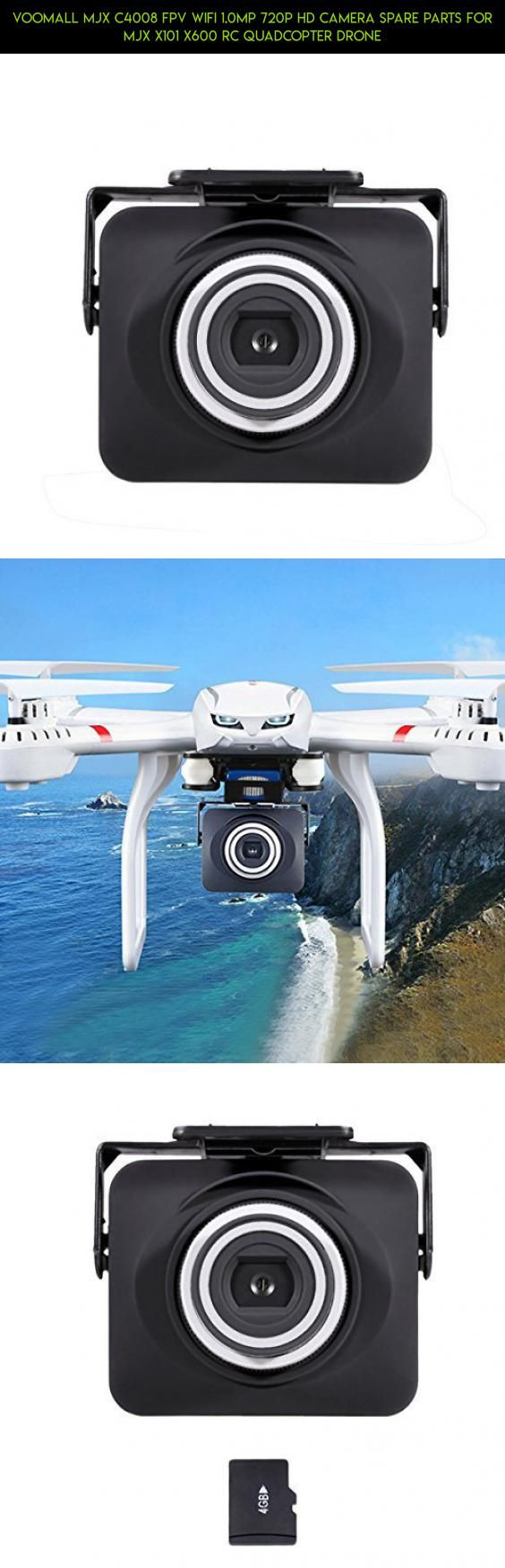 Voomall MJX C4008 FPV WIFI 1.0MP 720p HD Camera Spare Parts for MJX X101 X600 RC Quadcopter Drone #camera #parts #kit #technology #mjx #tech #racing #plans #shopping #products #fpv #c4008 #gadgets #drone #camera