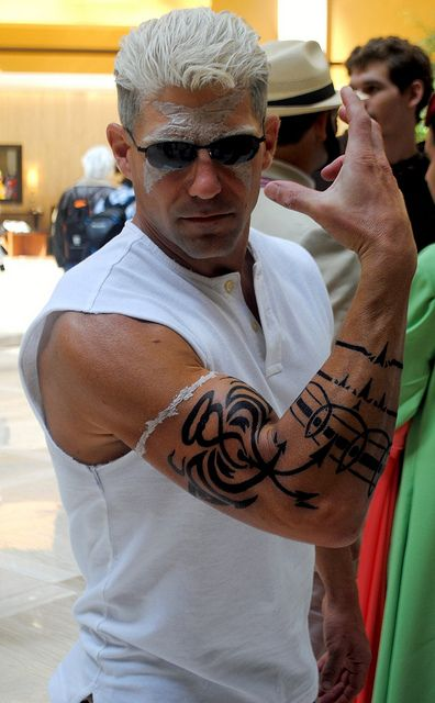 Scar (Fullmetal Alchemist) Cosplayer @ Anime Weekend Atlanta 17 by millermz, via Flickr <<This is the best Scar cosplay i've ever seen oh my god tHE TATTOOS I CANT<<<<<<DUUUUUUUUUDE