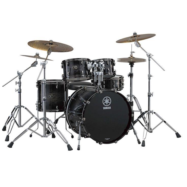 Yamaha Live Custom 4-Piece Acoustic Drum Set - Black Shadow Sunburst
