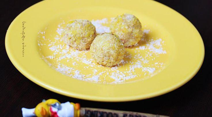 Лимонные конфетки с миндалем и кокосом